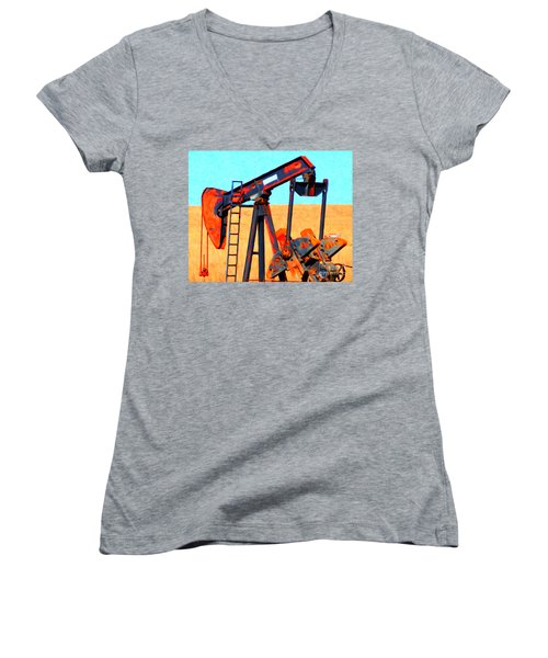 Oil Pump - Painterly Women's V-Neck