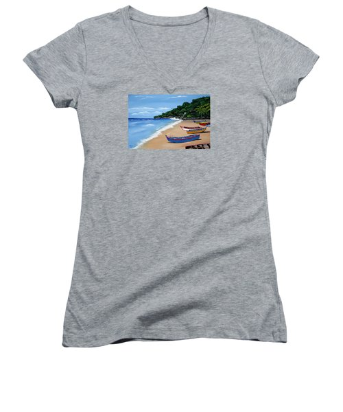 Olas De Crashboat Women's V-Neck (Athletic Fit)