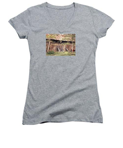 Old Barn Door Women's V-Neck T-Shirt