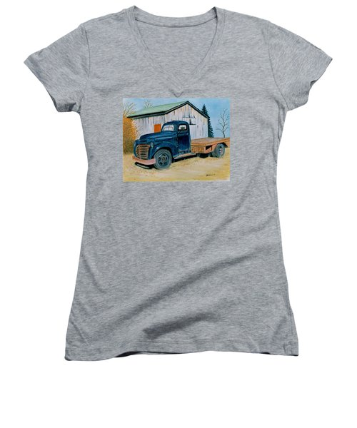 Old Blue Women's V-Neck T-Shirt