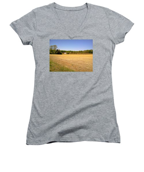 Old Chicken House On A Farm Field Women's V-Neck (Athletic Fit)