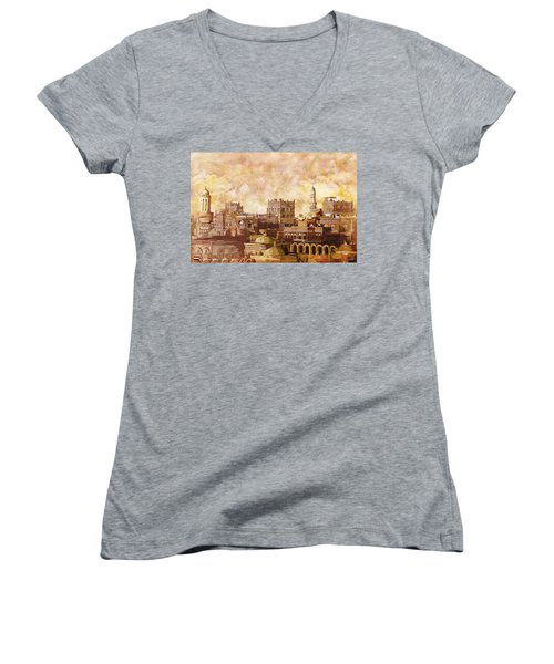 Old City Of Sanaa Women's V-Neck (Athletic Fit)
