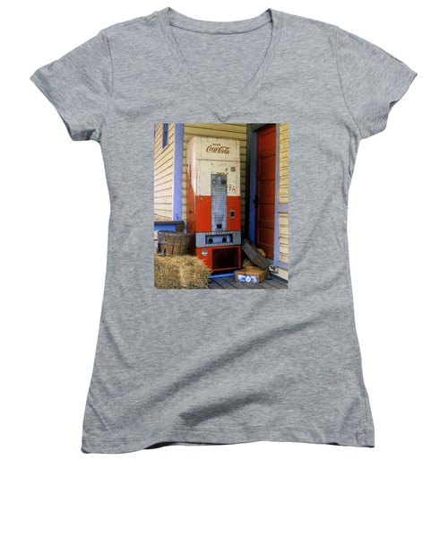 Old Coke Machine Women's V-Neck
