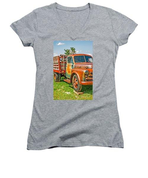Old Dually Women's V-Neck T-Shirt