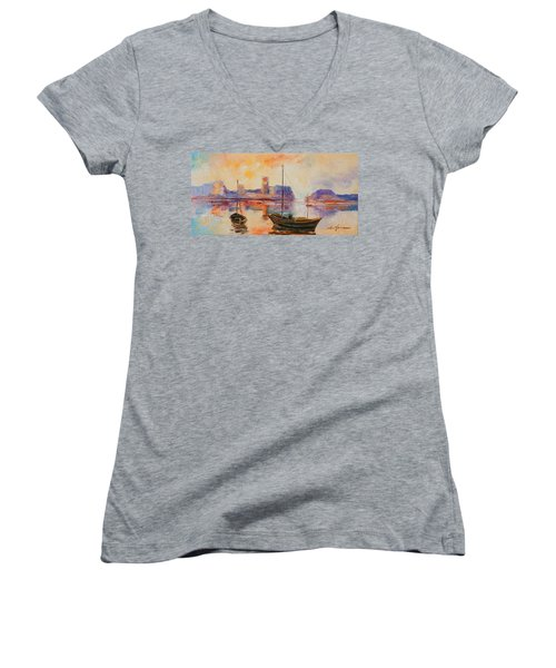 Old Dunbar Harbour Women's V-Neck (Athletic Fit)