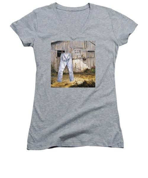 Old Friends Women's V-Neck T-Shirt (Junior Cut)