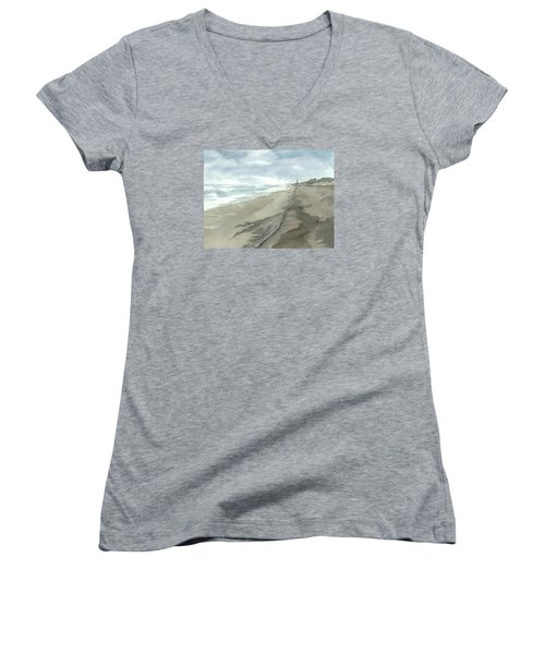 Old Hatteras Light Women's V-Neck T-Shirt