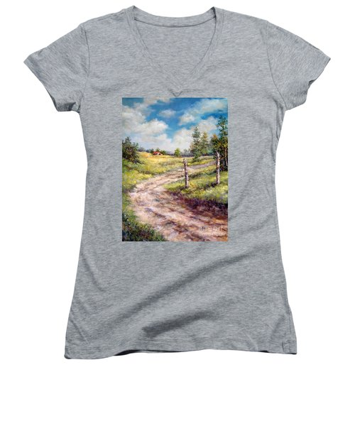 Old Home Place Women's V-Neck (Athletic Fit)