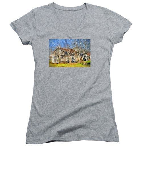 Old House Women's V-Neck (Athletic Fit)