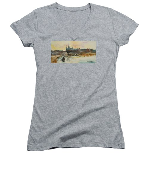 Old Krakow Women's V-Neck (Athletic Fit)