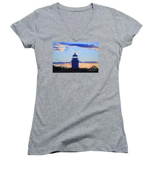 Old Lighthouse Women's V-Neck T-Shirt