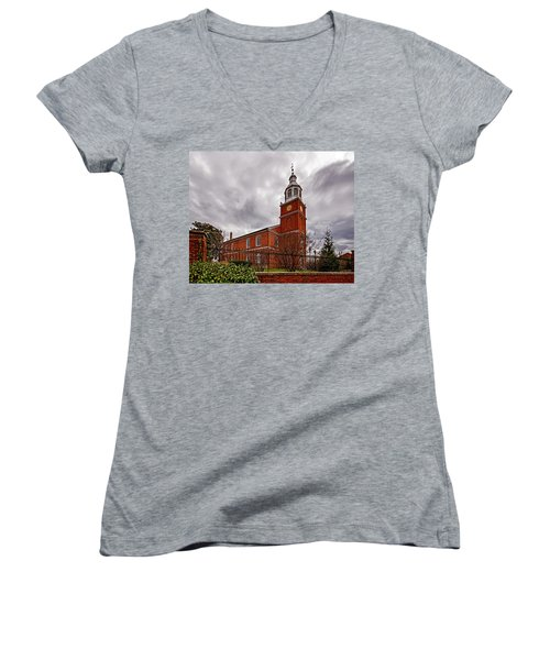 Old Otterbein Country Church Women's V-Neck T-Shirt