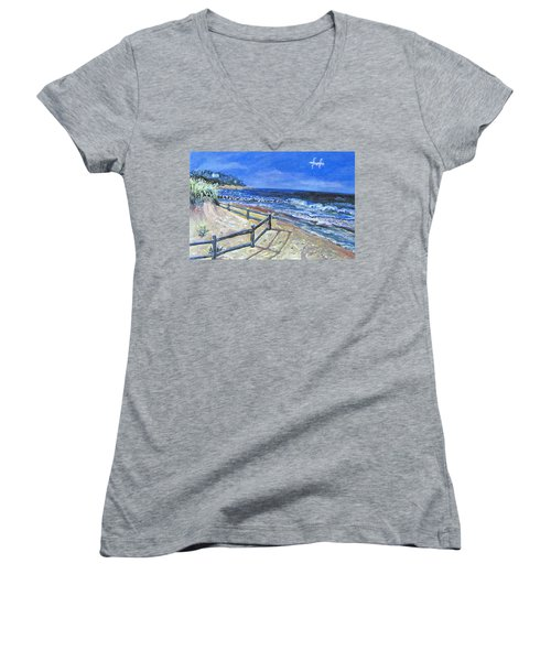 Old Silver Beach Women's V-Neck (Athletic Fit)