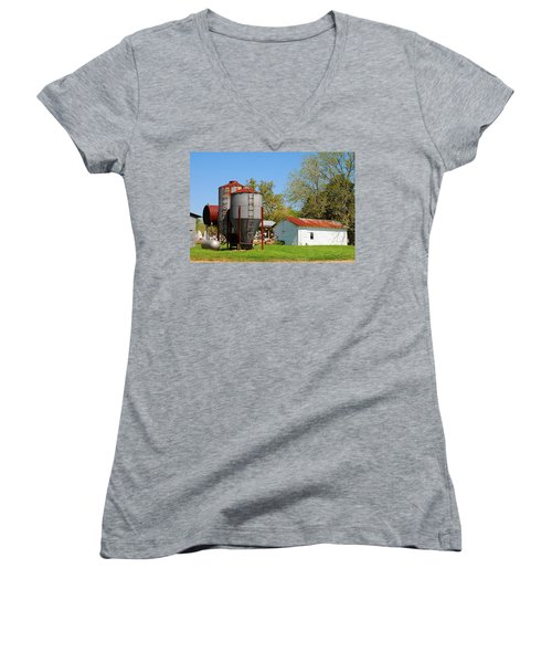 Old Texas Farm Women's V-Neck (Athletic Fit)
