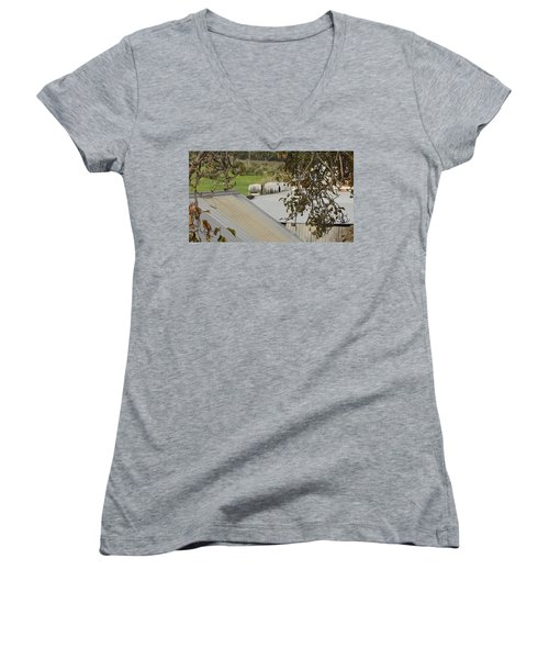 Old Tin Roof  Women's V-Neck (Athletic Fit)