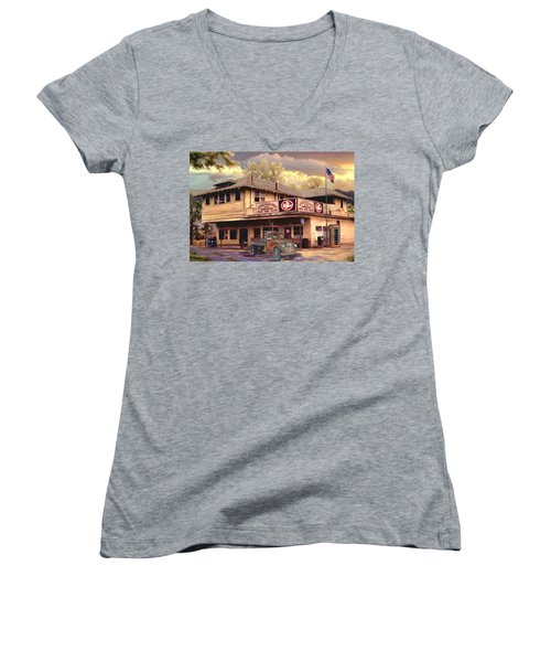 Old Town Irvine Country Store Women's V-Neck (Athletic Fit)
