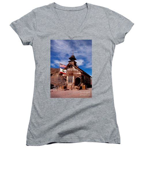 Old West School Days Women's V-Neck (Athletic Fit)