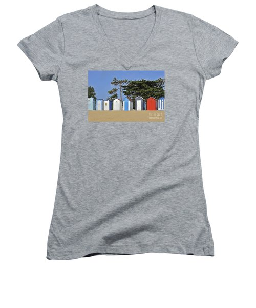 Women's V-Neck T-Shirt (Junior Cut) featuring the photograph Oleron 6 by Arterra Picture Library