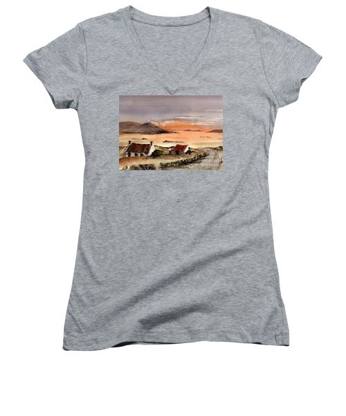 Omey Island Sunset Galway Women's V-Neck