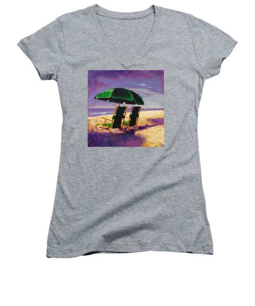 On The Beach Women's V-Neck