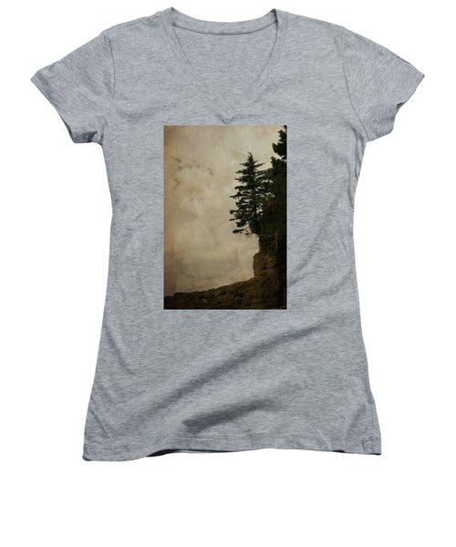 On The Edge Women's V-Neck T-Shirt