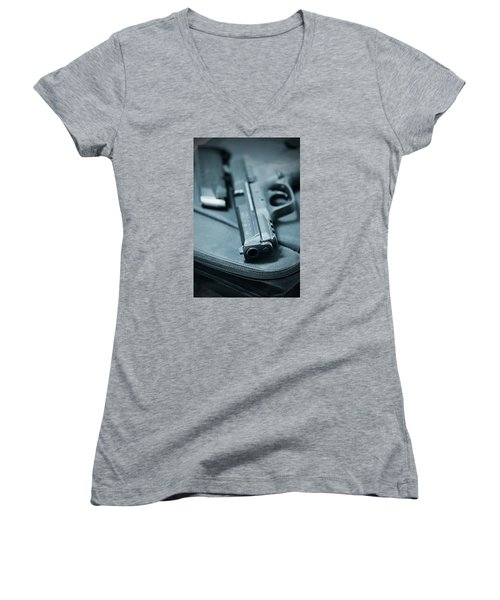 On The Lam Women's V-Neck T-Shirt (Junior Cut) by Trish Mistric