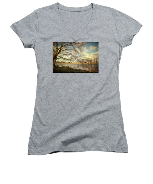 On The River Side Women's V-Neck (Athletic Fit)