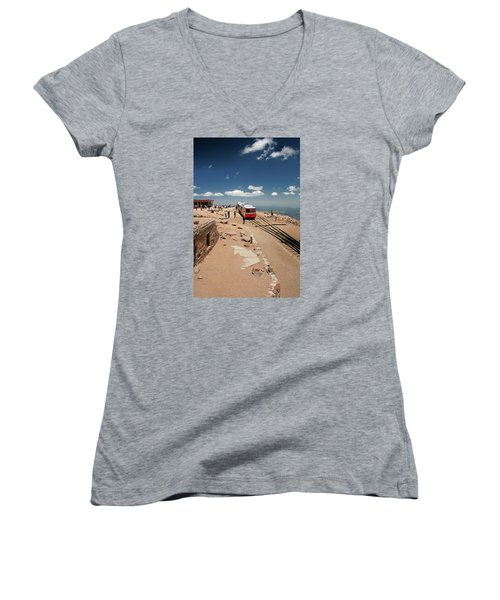 On Top Of The World Women's V-Neck (Athletic Fit)