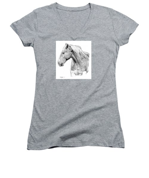 Da134 One Horse Daniel Adams  Women's V-Neck