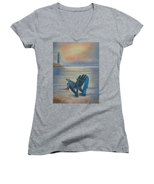 One Is A Lonely Number Women's V-Neck T-Shirt (Junior Cut) by Kay Novy