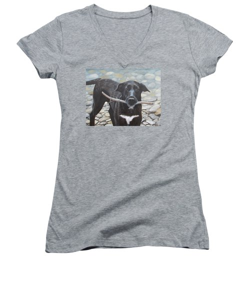 One More Time Women's V-Neck