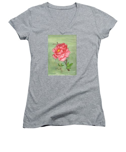 One Rose Women's V-Neck T-Shirt