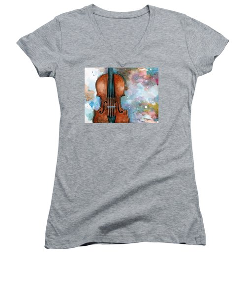 One Voice In The Cosmic Fugue Women's V-Neck