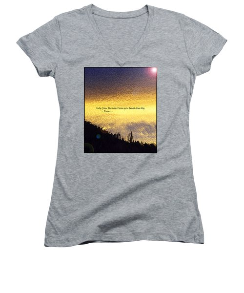 Only From The Heart Women's V-Neck T-Shirt
