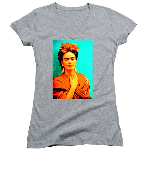 Orange You Glad It Is Frida Women's V-Neck (Athletic Fit)