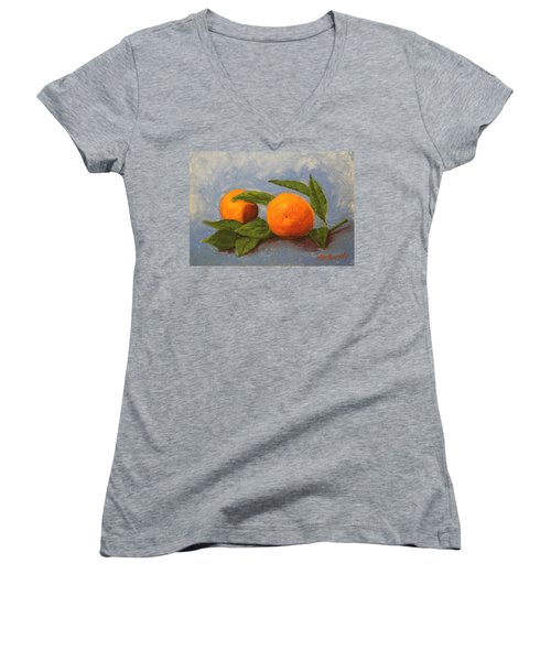 Oranges Women's V-Neck (Athletic Fit)