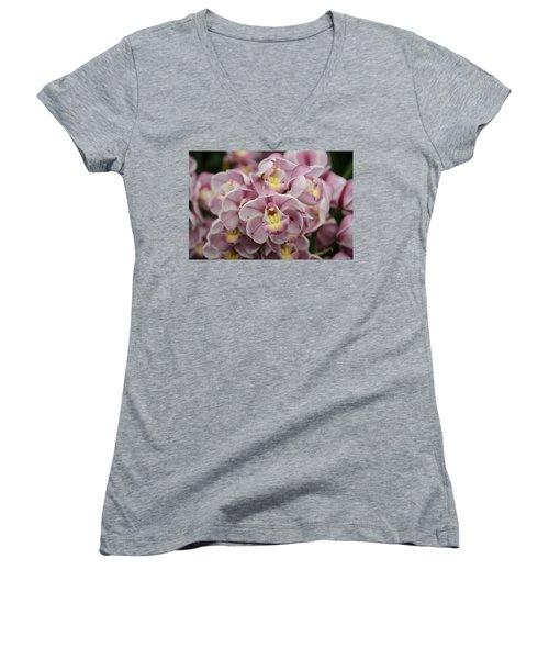 Orchid Bouquet Women's V-Neck