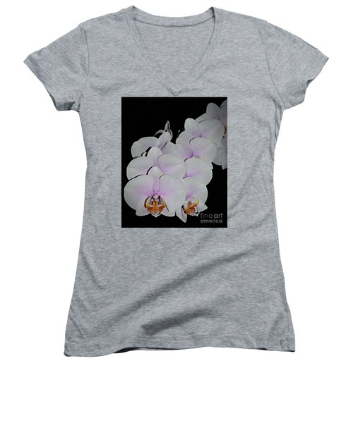 Orchid Bunch Women's V-Neck (Athletic Fit)