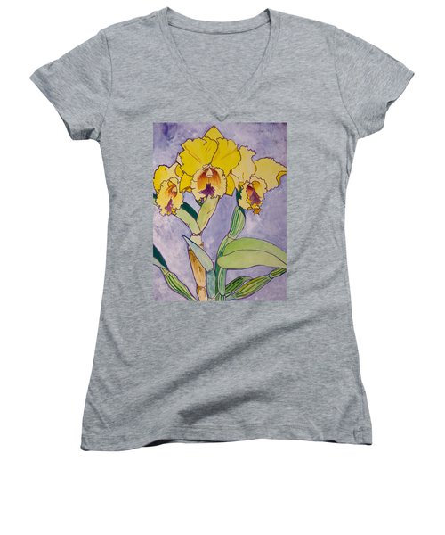 Orchid Study Women's V-Neck