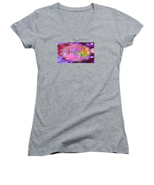 Purple Sweet Dream Women's V-Neck T-Shirt