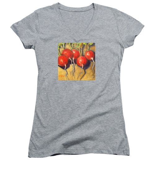Organic Radishes Still Life Women's V-Neck (Athletic Fit)