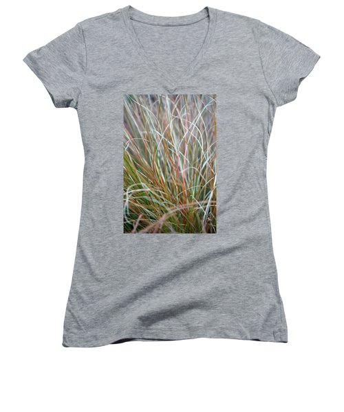 Ornamental Grass Abstract Women's V-Neck
