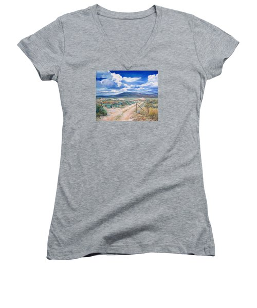 Osceola Nevada Ghost Town Women's V-Neck (Athletic Fit)