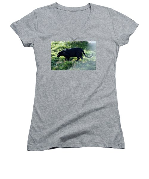 Out Of Africa  Black Panther Women's V-Neck