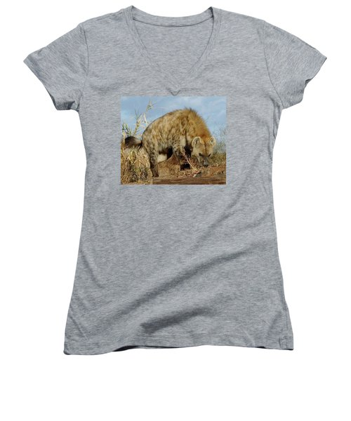 Out Of Africa Hyena 1 Women's V-Neck (Athletic Fit)