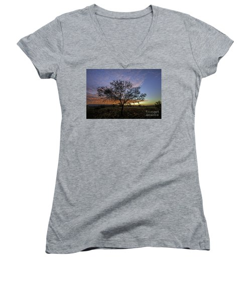 Outback Sunset  Women's V-Neck