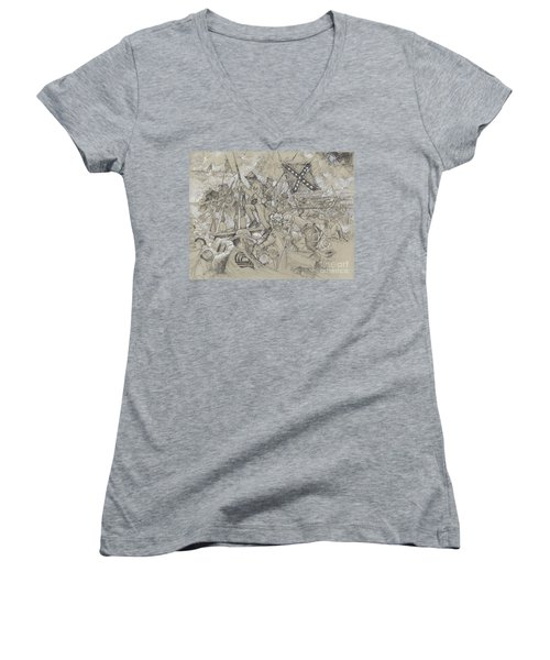 Over The Angle Women's V-Neck T-Shirt