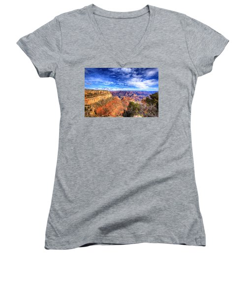 Over The Edge Women's V-Neck T-Shirt