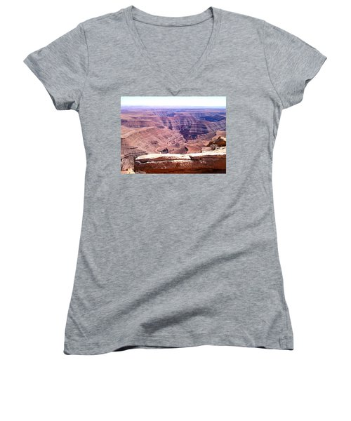 Overlook Into The Layers Of Time Women's V-Neck T-Shirt