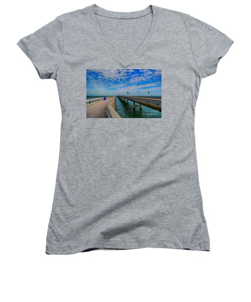 Overseas Highway Florida Keys Women's V-Neck T-Shirt